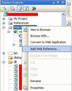 screenshot untuk add web reference